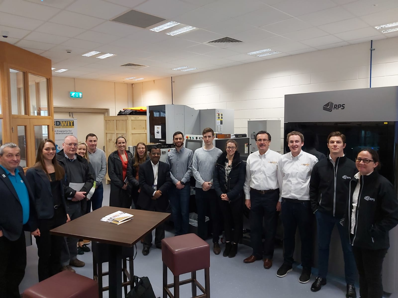 Worldclass NEO800 showcasing to medical sector at 3DWIT, Waterford Institute of technology, Ireland.