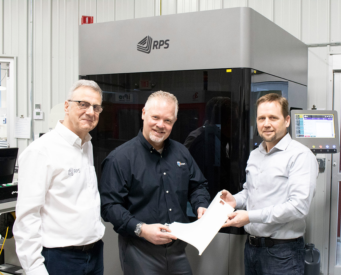 RPS partners with DSM and Midwest Prototyping to launch NEO800 into North American market